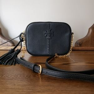Tory Burch McGraw Leather Camera Bag - Black